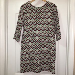 Everly Geometric Retro Mod Shift Dress Size L